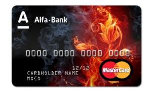 индивидуальный дизайн банковской карточки - цветов. Альфа-Банк